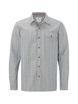 Redstart dobby stripe long sleeve shirt