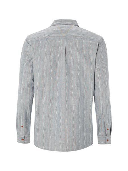 White Stuff Redstart dobby stripe long sleeve shirt