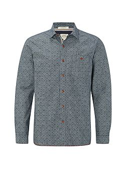 Yasur chambray print long sleeve shirt