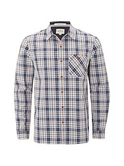 Aplite faded check ls shirt