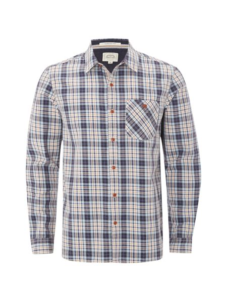 White Stuff Aplite faded check ls shirt