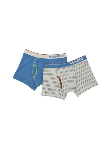 White Stuff Fine stripe boxer double pack