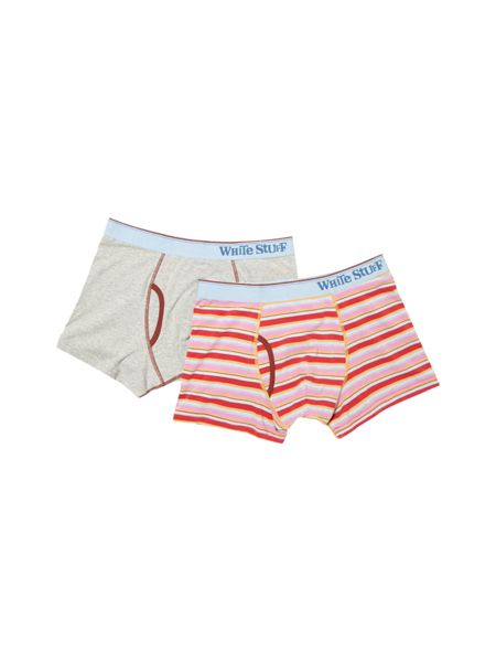 White Stuff Bowie stripe boxer double pack