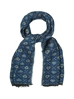 Heart Jacquard Midweight Scarf