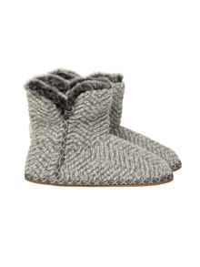 White Stuff Textured Marl Bootie