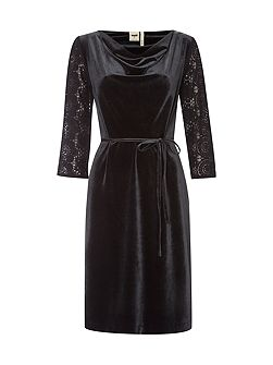 Night Lark Velvet Dress