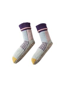 White Stuff Patchy Patchwork Sock