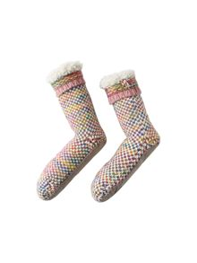 White Stuff Textured Spacey Slipper Sock