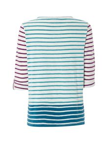 White Stuff Royal Stripe Jersey Tee