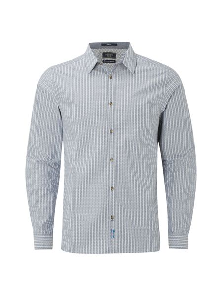 White Stuff Besar Stripe Long Sleeve Shirt