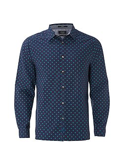 Halla Geo Print Long Sleeve Shirt