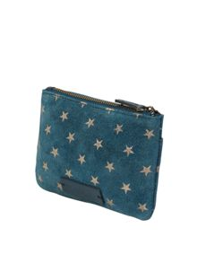 White Stuff Star Metallic Coin Purse