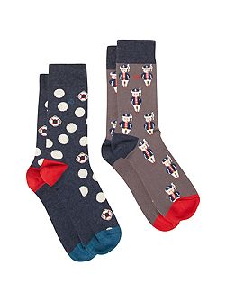 Sailor socks 2 pack