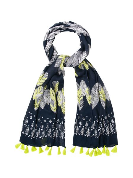 White Stuff Falling Leaves Scarf