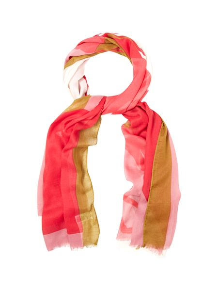 White Stuff Colourblock Giraffe Scarf