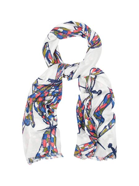 White Stuff Dancing Dragonfly Scarf
