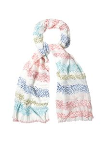 White Stuff Interest Stripe Scarf