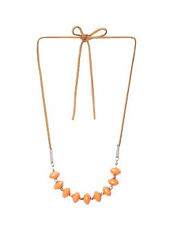 Lily Bead And Suede Necklace