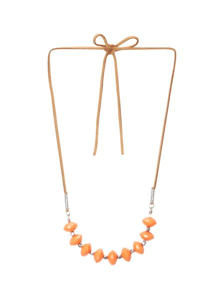White Stuff Lily Bead And Suede Necklace