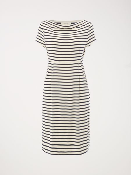 White Stuff Stripe Foliage Dress