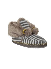 White Stuff Stripe Moccasin Bootie