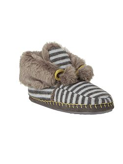 Stripe Moccasin Bootie