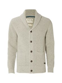 White Stuff Wallis Shawl Rib Cardigan Knit