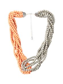 White Stuff Colourblock Plaited Bead N/L