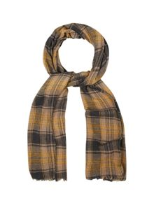 White Stuff Oscar check yak wool scarf