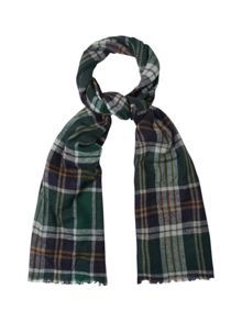 White Stuff Sebastian check yak wool scarf