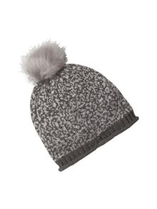 White Stuff Sequin Bobble Hat