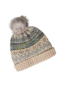 White Stuff Shimmer Fairisle Bobble Hat