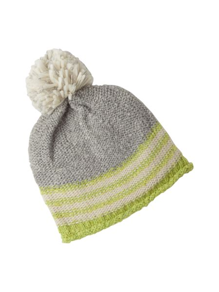 White Stuff Sheryl Neon Stripe Bobble Hat