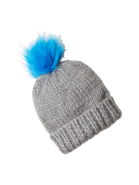 White Stuff Annie Colour Fur Pom Hat
