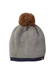 White Stuff Mens geo bobble hat