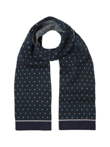 White Stuff Smart jacquard scarf