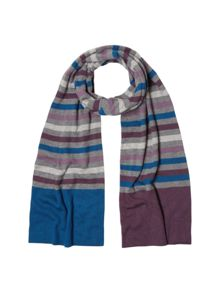 White Stuff Johnny stripe merino scarf