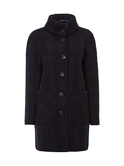 Fern Brush Wool Coat