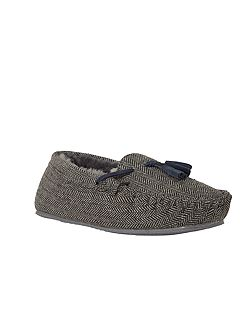 Mens herringbone moccasin
