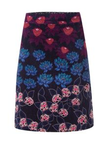 White Stuff Azalea Printed Velvet Skirt