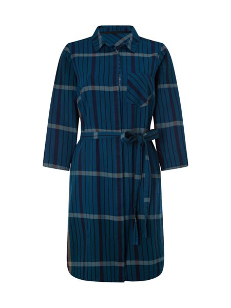 White Stuff Check Woven Shirt Dress