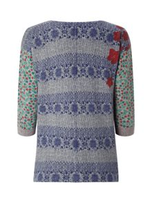White Stuff Nelly Print Jumper