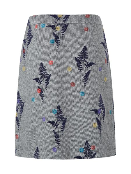 White Stuff Journey Flock Skirt