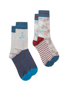 White Stuff Bicycle socks 2 pack