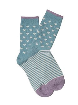 Heart and Stripe Sponge Sock