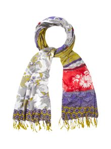 White Stuff East To West Patchwork Scarf