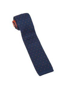 White Stuff Springer spot knit tie
