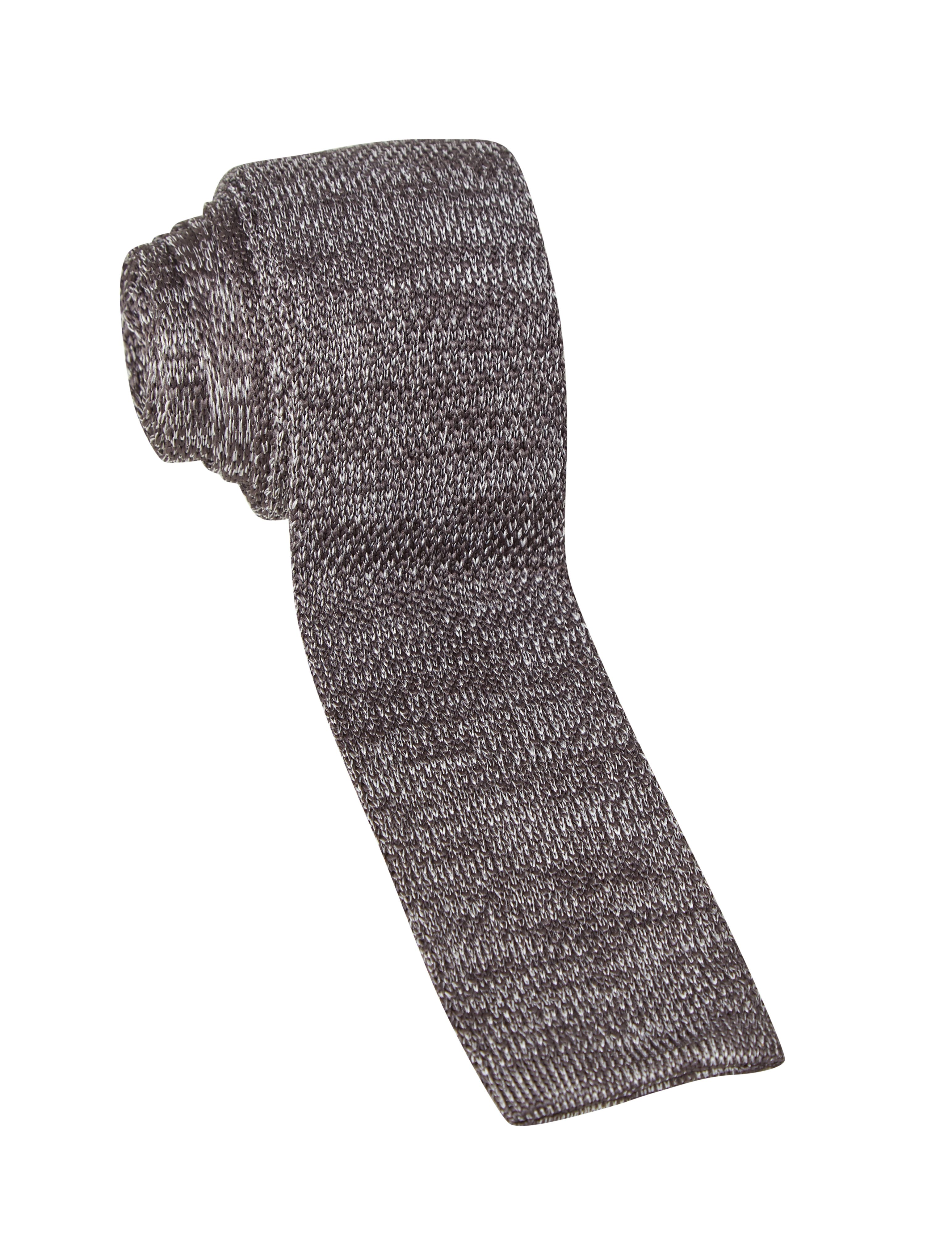 White Stuff Springer Plain Knit Tie Grey