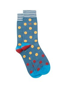 White Stuff Mark multi spot sock