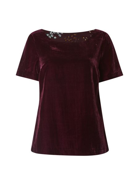 White Stuff Isla Velvet Top